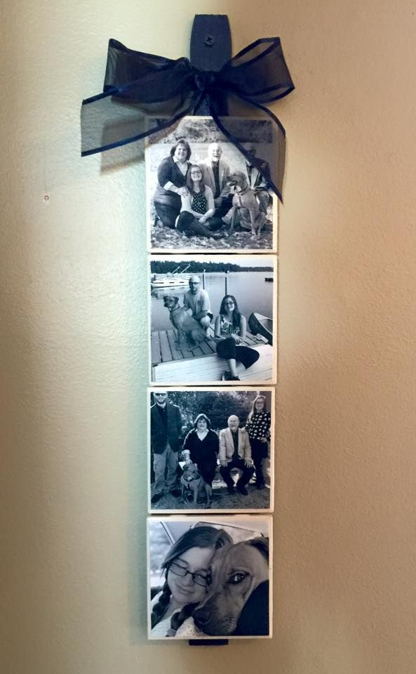 Pictures On Tile With Modge Podge Painted Large Paint