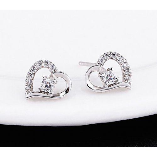 Szív alakú fülbevaló 925 ezüst