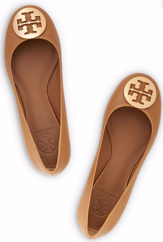 Tory Burch Reva Tumbled Leather Ballet Flat : Women's View All