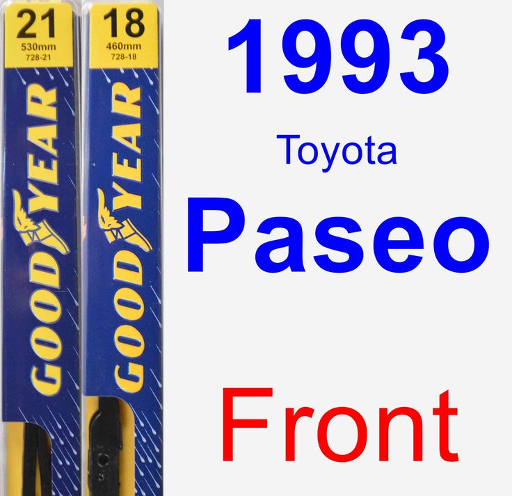 Front Wiper Blade Pack for 1993 Toyota Paseo - Premium