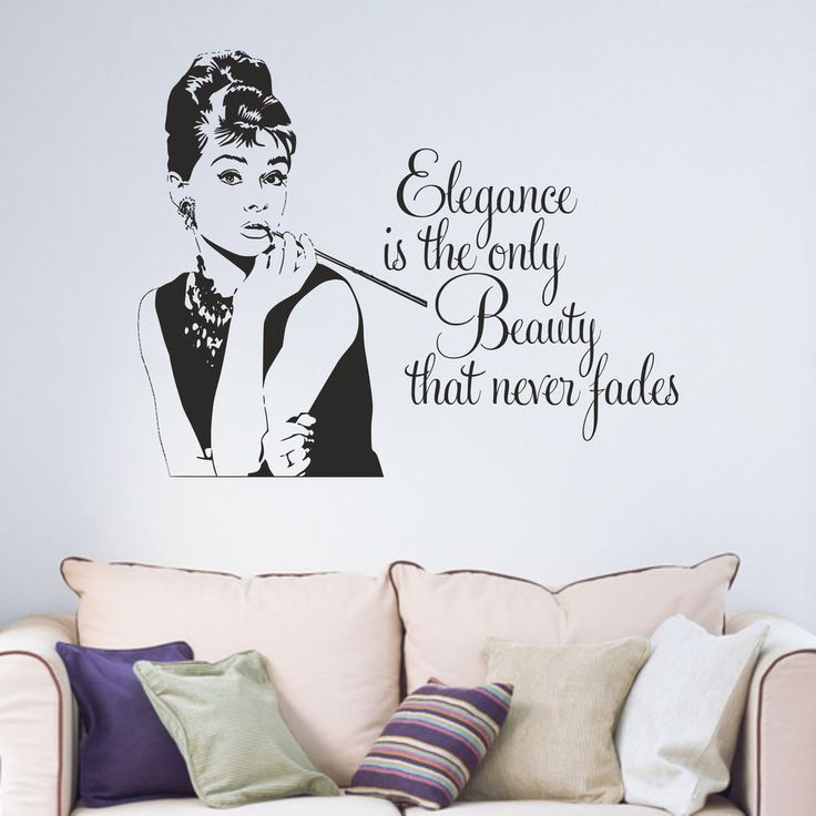 Audrey Hepburn Quote Vinyl Cut Wall Art Sticker Decal. If this happens care needs to be taken while smoothing back down to avoid creasing. Top grade matt vinyl. No glare from light fittings. It is important that the decals are applied to surfaces that are smooth, clean and dust and grease free.   eBay!