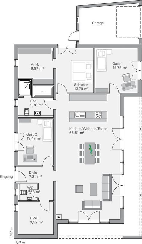Moderne architektur häuser grundriss  543 besten Haus Bilder auf Pinterest | Grundrisse, Haus grundrisse ...