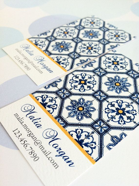 Personalized Business Card Calling Card Mosaic Tile by PikakePress, $22.00