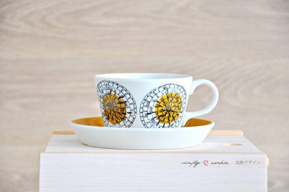 Vintage Cup Saucer Kehakukka Arabia Finland by SimplyLoveNordic, €25.00