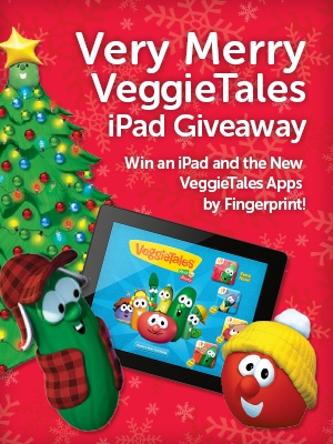 Enter to win an iPad with the NEWEST VeggieTales apps from @FingerPrintPlay in time for Christmas!