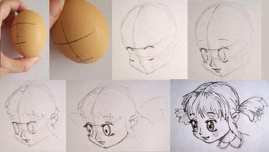 Tecnicas Para Dibujar: Manera De Proporcionar Y Dibujar La Cabeza En Dibujo Anime
