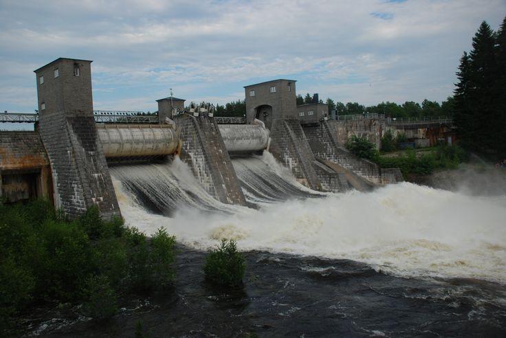 #Imatra, #Finland, Imatrankoski rapids by Maija S. Imatrankoski rapids were formed 5000 year ago, when land rose after the Ice Age and Lake Saimaa waters tore the Salpauselkä ridge apart.