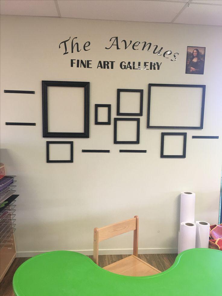 Art gallery/display for children's art work. Reggio Emilia