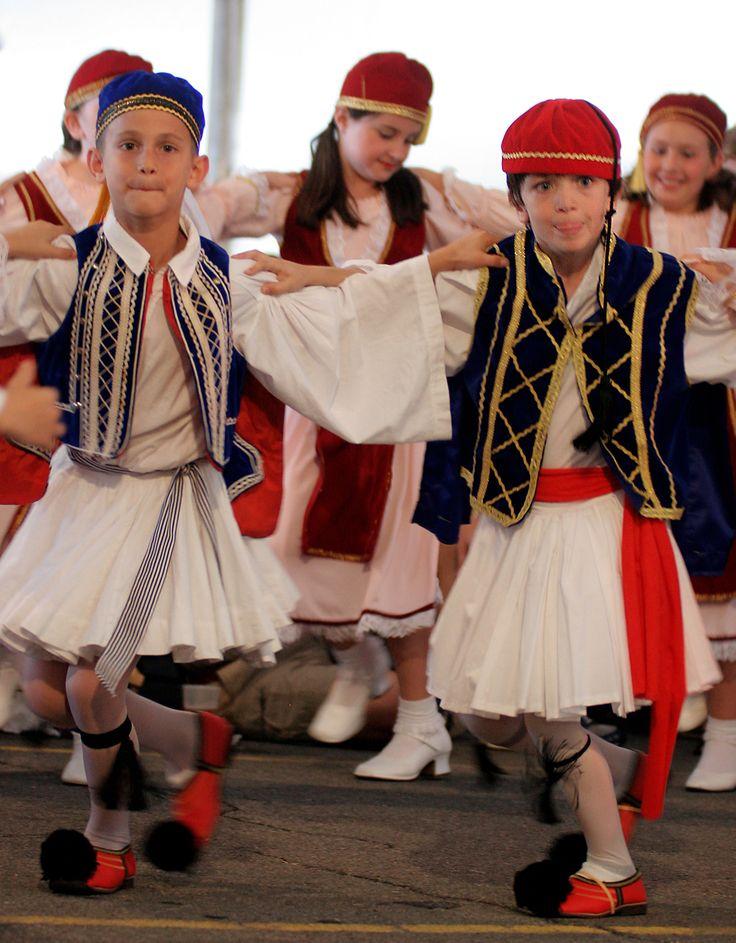 Greek boys dancinh at a Greek festival