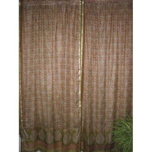 Amazon.com: India Curtains Drapes Pair American Rose