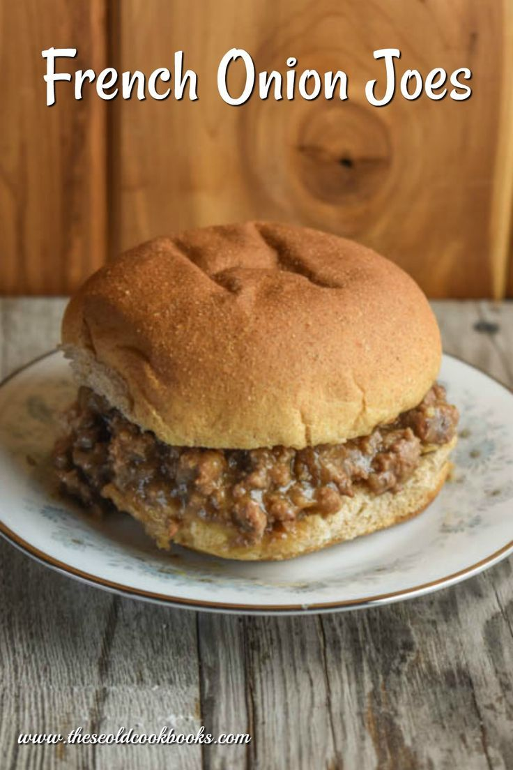 These French Onion Joes Feature Just Four Simple Ingredients Including Ground Beef And Are An Easy Weeknight Sandwich O Recipes French Onion Cookbook Recipes