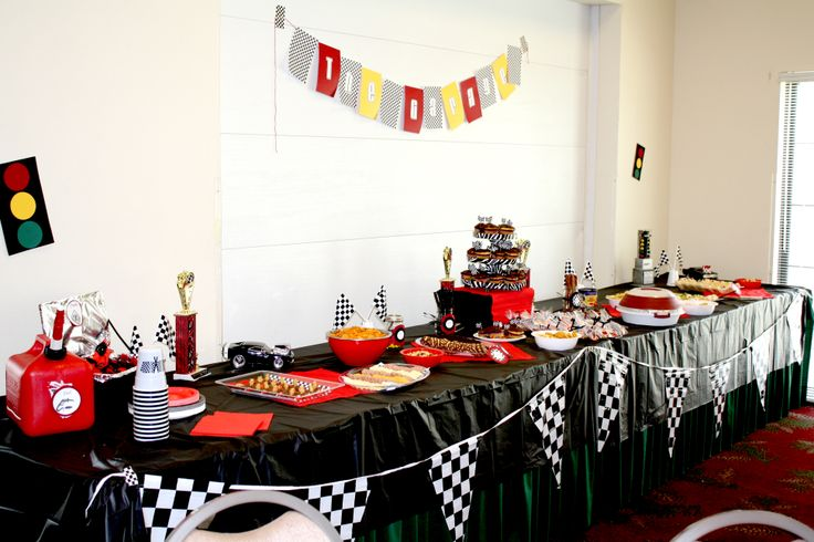 race car themed baby shower