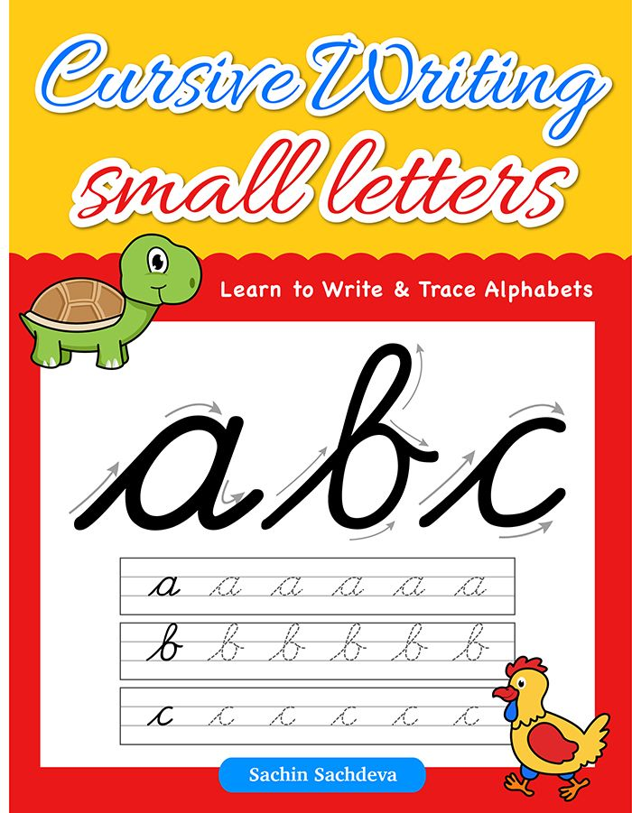 Cursive writing Small Letters has been designed with the aim to master good handwriting skills in children. Book has 26 lowercase alphabets pages with a guided direction for writing each alphabet.