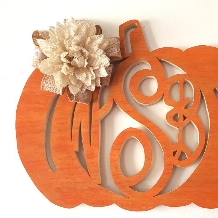 DIY Fall-Themed Monogram Wreaths