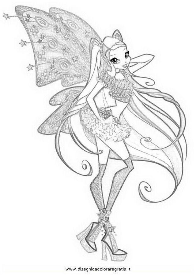 Cartoni Winx Winx Stella Quarta Serie Jpg Disegno Schizzi Arte Disegno Arte