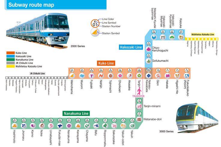 Fukuoka subway map