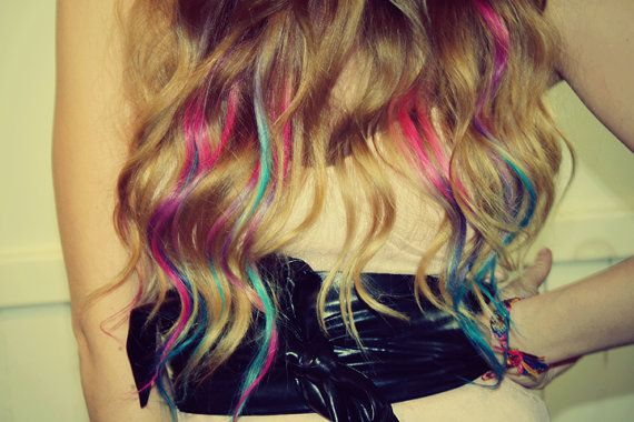 Cheveux teints de pastel Tie Dye conseils sale par Cloud9Jewels