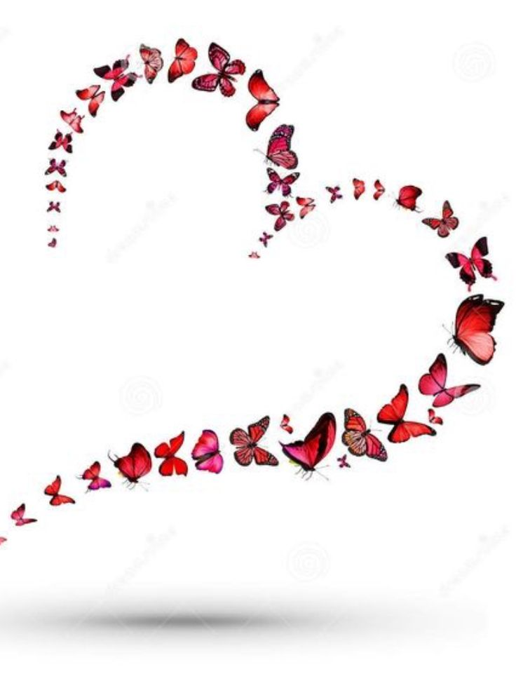 Love of Butterflies #hearts