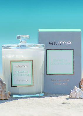 Elume Luxury Sea Mist & Coco Flower Candle