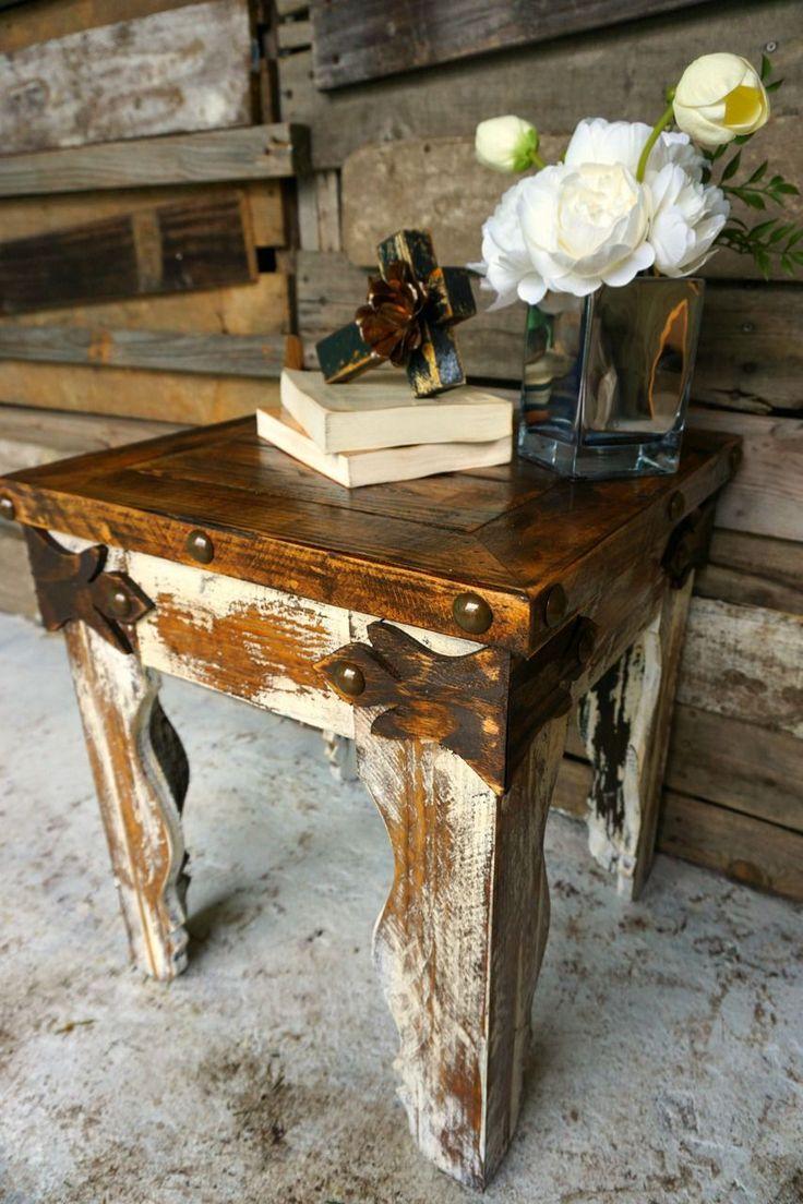 Gancho Side Table - Sofia's Rustic Furniture #westernfurniture