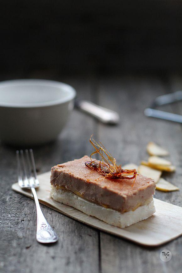 Milhojas de foie, manzana y queso. Receta. To be Gourmet | Gastronomía, recetas de cocina y restaurantes.