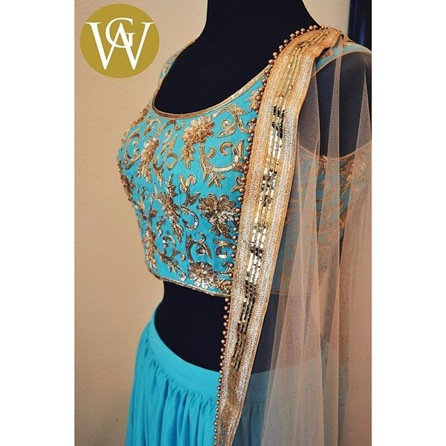 How gorgeous is this combo? We are loving the Jasmine blue and gold accents together! The embroidery and beadwork on this piece creates endless possibilities and makes it very versatile.  Email us to set up a consultation at sales@wellgroomed.ca  Drop by one of our retail locations:  6028 Stevenson Blvd, Fremont CA  Unit 321-8218 128 St. Surrey, BC  #wellgroomedinc #allthingsbridal #indianfashion #wedding #bride #style #fashion #designer #royal #glamour #makeup #beauty #picoftheday #happy…