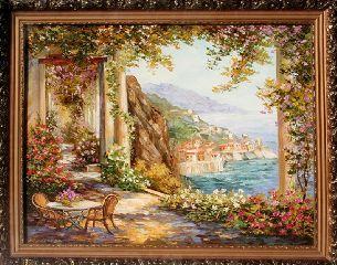 Побережье Италии - Средиземноморье <- Картины маслом <- Картины - Каталог | Универсальный интернет-магазин подарков и сувениров