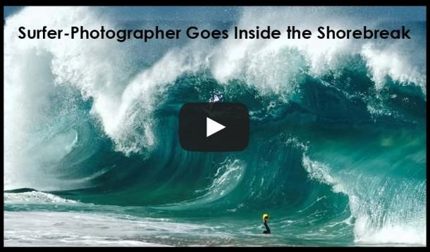 These photos inside the shorebreak make me want to surf.