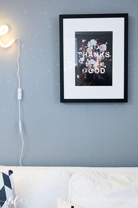 Poster im Arbeitszimmer | skandinavisch | Scandi | Blumen | Deko | Wohnen | Einrichten