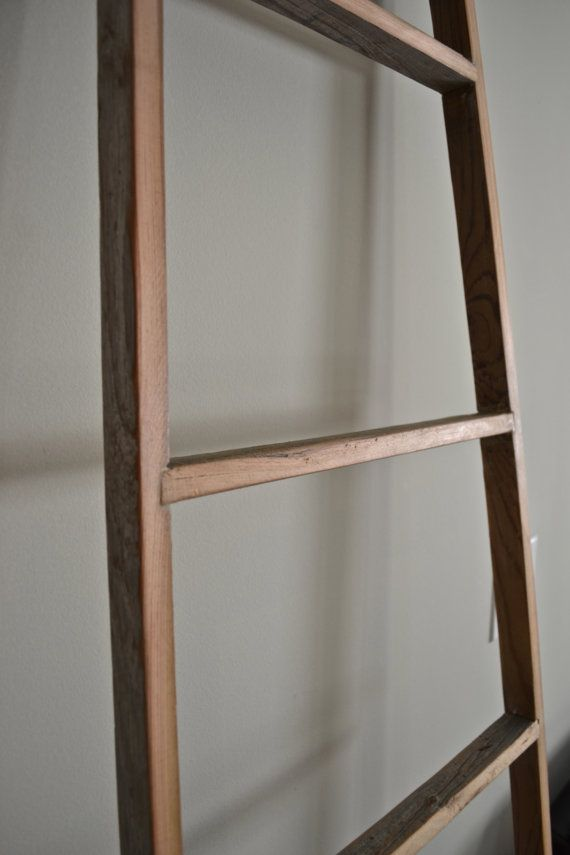 Leaning Display Ladder Reclaimed Wood Ladder by decoratelier