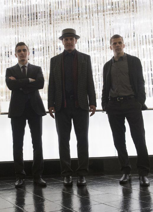 Still of Woody Harrelson, Jesse Eisenberg and Dave Franco in Now You See Me 2 (2016)