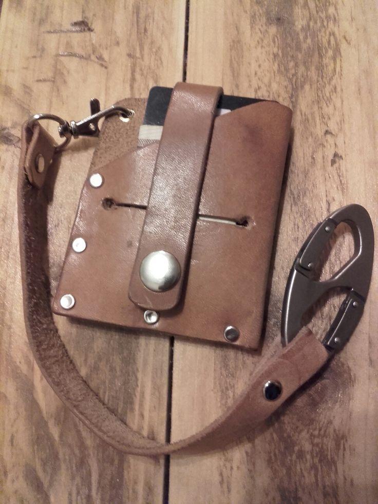 Mini wallet leather handmade