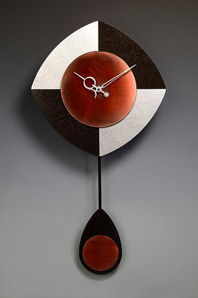 L-Drop Pendulum Clock - Black & Silver: Leonie Lacouette: Wood & Metal Clock - Artful Home