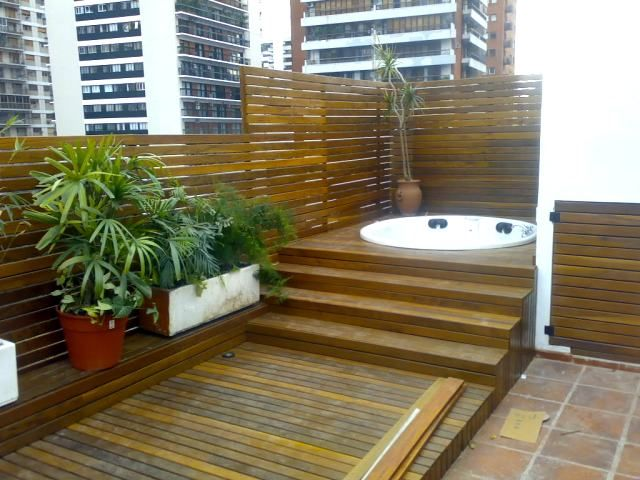 M s de 25 ideas incre bles sobre gimnasio en el patio for Jacuzzi en patios pequenos