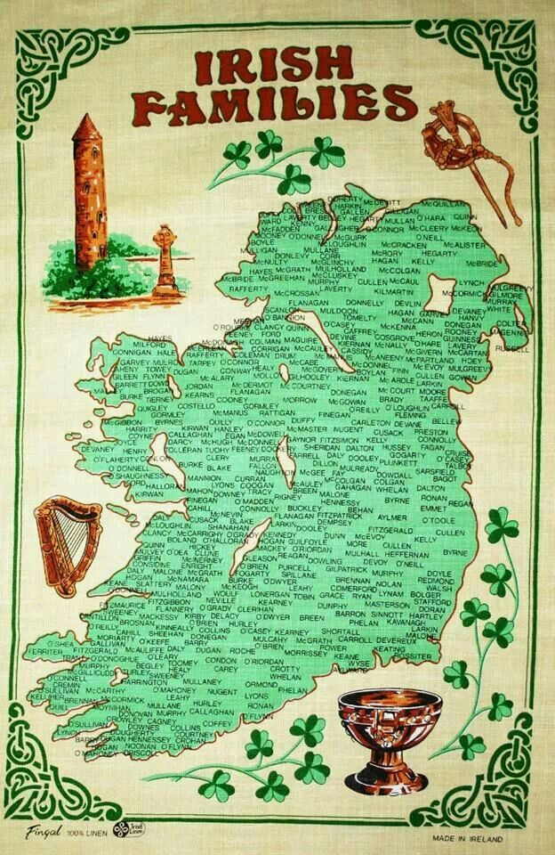 Irish Families - Nugent is right there in the middle, and again in the south!!! :)