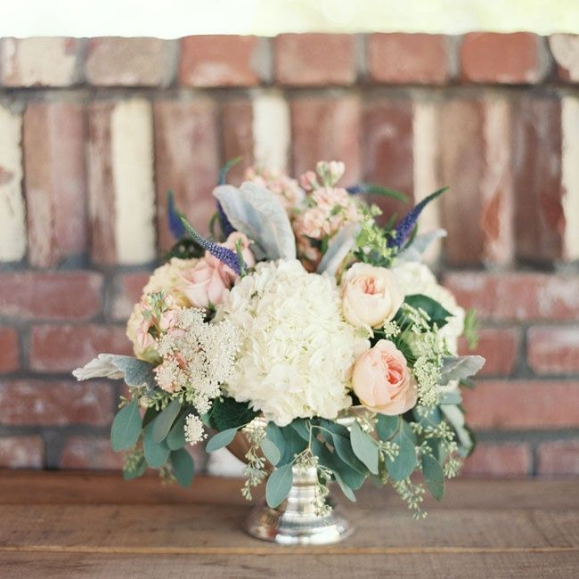 Pale pink and purple centerpieces | Brushfire Photography | Fleurt Floral Art | www.theknot.com