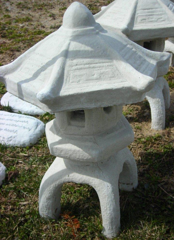 Very Nice Pagoda Cement Garden Statue