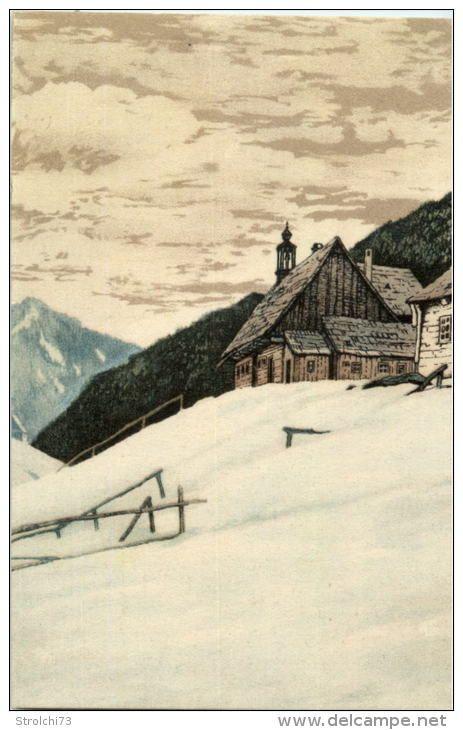 Glockenhaus im Lurtzgrund - Riesengebirge - Künstlerkarte Friedrich Iwan