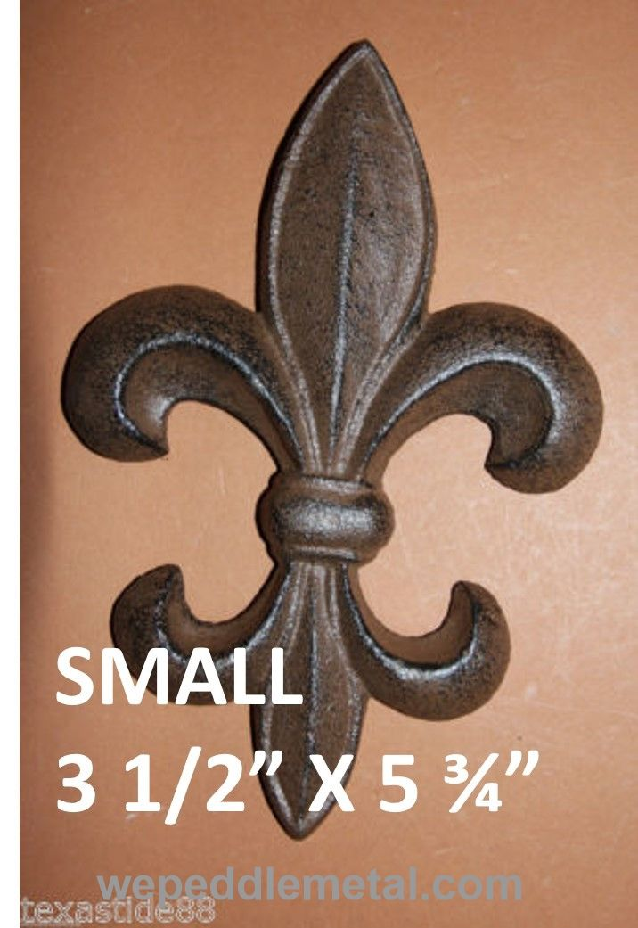 Fleur De Lis Wall Decor cast iron fleur de lis wall plaque 5.75 inches (f) 5 | products