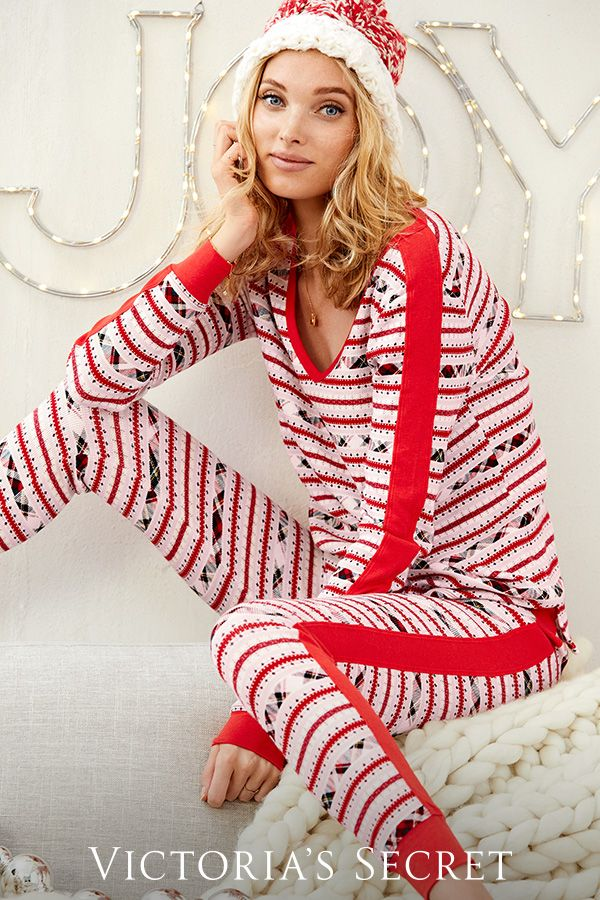 It doesn't get cozier than #holiday PJ's. | Victoria's Secret - It Doesn't Get Cozier Than #holiday PJ's. Victoria's Secret