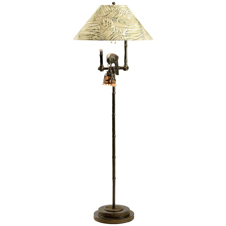 Frederick Cooper MY127B Polly by Night II Dark Brown Floor Lamp