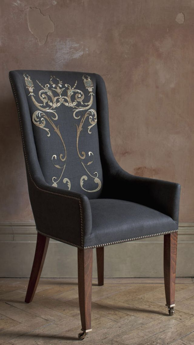 A signature Beaumont & Fletcher design. The Kingsley dining chair combines great comfort with sheer elegance. Its classic lines work perfectly in a traditional or contemporary setting as a dining chair, desk or occasional chair.