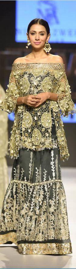 #NIDAAZWER #BRIDALDRESSES OF #FASHIONPAKISTANWEEK2015