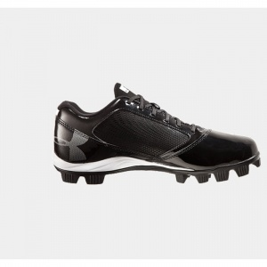 Under Armour Yard Low Baseball Cleats Mens Black Leather - ONLY $39.99