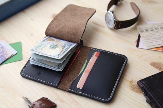 Horween Chromexcel Money Clip Wallet Mens by Manufacturabrand