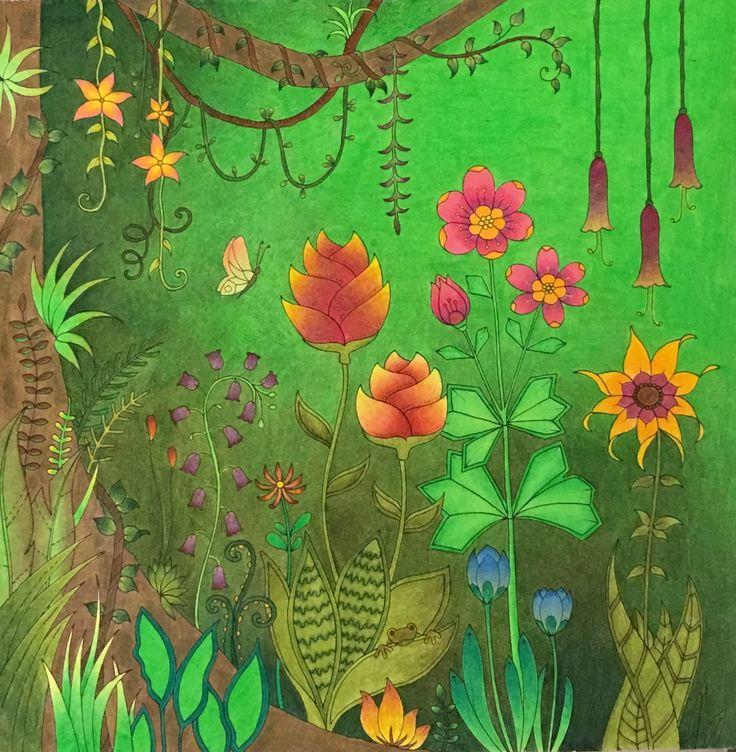 #johannabasford #magickadzungle #magicaljungle #coloringforadults Omalovánky Magical Jungle, Johanna Basford