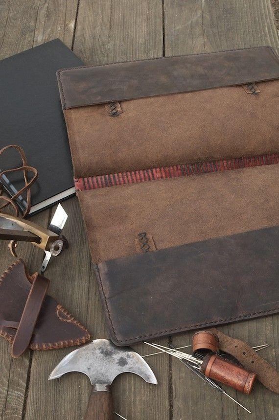 Leather Monk's Book Cover por JWLeathersmith en Etsy