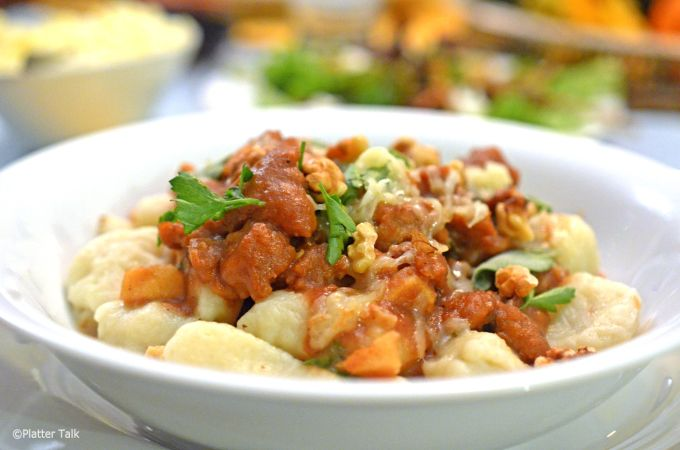 Sage & Apple Butter Pasta Sauce with Gnocchi - Platter Talk
