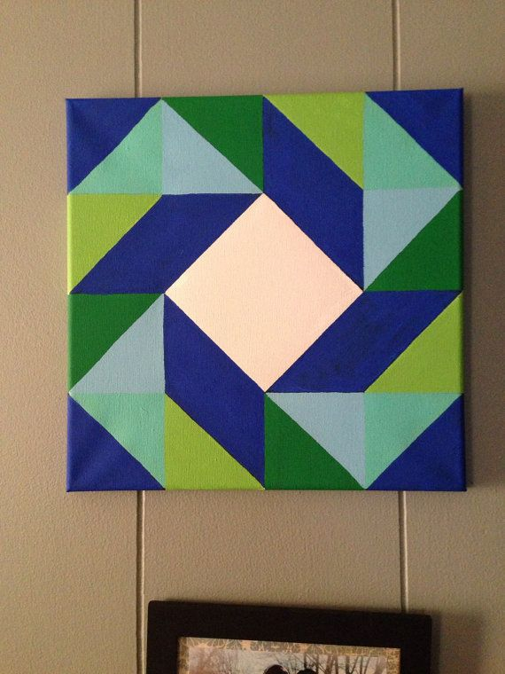 Barn Quilt Design Painting canvas painting acrylic by Cheekertons