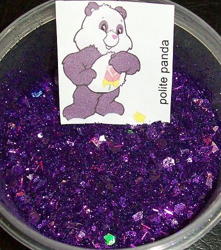 Care Bear CareBears #31-56 Glitter Mix Glow In The Dark Acrylic Nail Art | eBay